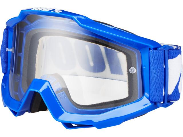 100% Accuri Anti Fog Clear Goggles reflex blue